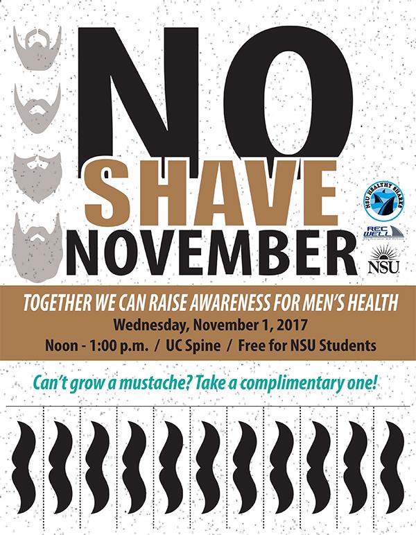 No Shave November Wellness Bash, Nov  1 | NSU Newsroom