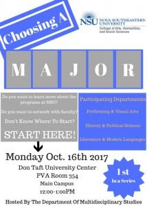 Deciding Majors Event Oct 16