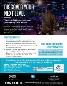 Tony Robbins Training Flyer