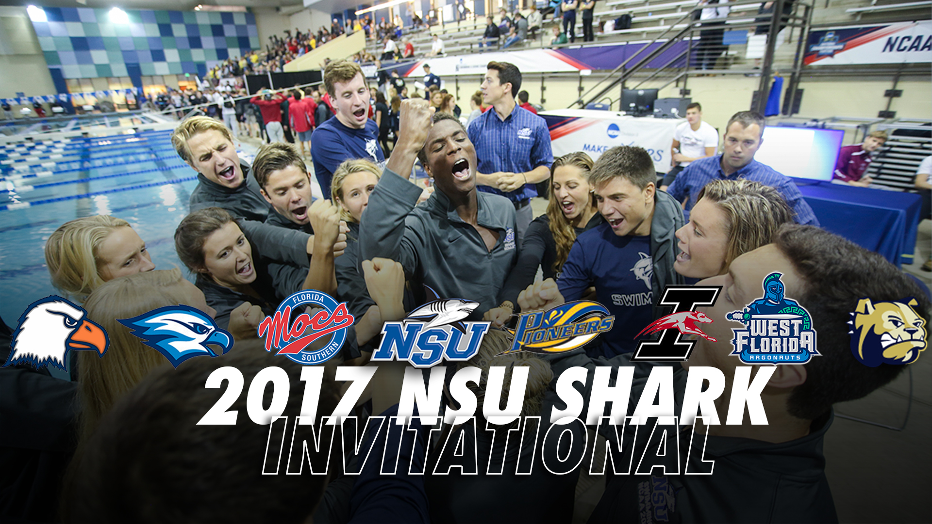 Nsu swimming amped for 2017 shark invitational nsu newsroom - Southeastern college pasay swimming pool ...