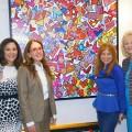 Dr. Deborah Ann Mulligan, Dr. Ramsey Pevsner, Linda Stein Wentworth Gallery and BCMA Exec Dir Cynthia Peterson