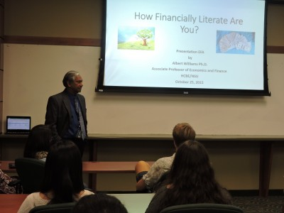 Dr. Albert Williams Listening to Financial Literacy Questions