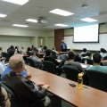 Faculty and Students listening attentively to Dr. Williams