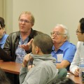 Faculty and Students listening to Dr. Jack De Jong, Finance Faculty and Department Chair