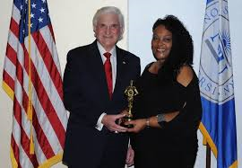 Sharon McIntyre with President George Hanbury NSU Student of the Year 2015