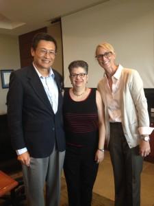 Dean Honggang Yang Dr. Jackie Font-Guzman and Dr. Robin Cooper