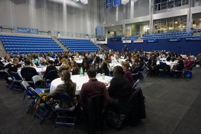 Nearly 300 people attended the Domestic Violence summit.