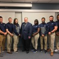 From the left and right are the NSU athletic training Level 3 students standing around NATA President Scott Sailor (from the left, fourth person)