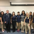 From the left and right are the NSU athletic training Level 2 students posing with NATA President Scott Sailor President Scott Sailor (from the left, fourth person).