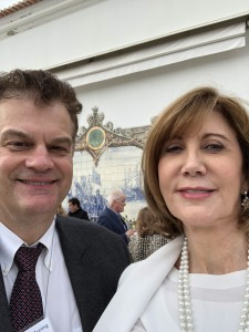 Dr. Temple and his wife (Chris) attending one of the ABJS events in Lisbon this May at the meeting.