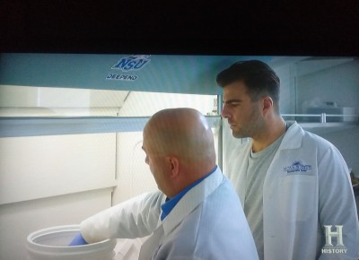 Dr Tracey Sutton with Zach Quinto 2