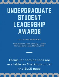 Undergraduate Student Leadership Awards