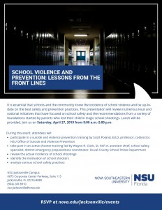 NSU Jacksonville Campus Event - School Violence and Prevention_ Lessons from the Front Lines